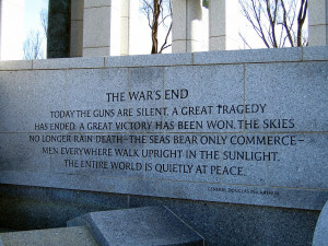 world war ii memorial quote general macarthur the war s end