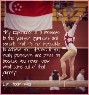 Gymnast Quotes Singapore gymnastics runs