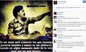 ... Instagram post that featured Pablo Escobar. Photograph: /Instagram