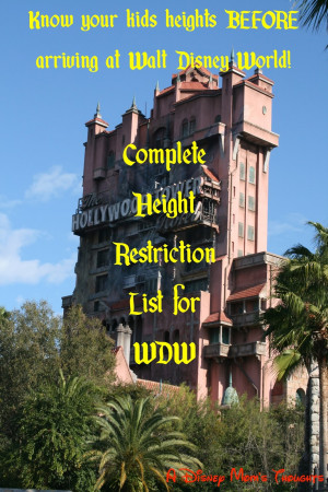 Tuesday's Tip: Walt Disney World Ride Height Requirements