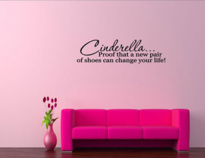 Cinderella Quotes And Sayings Vinyl wall words quotes and sayings ...