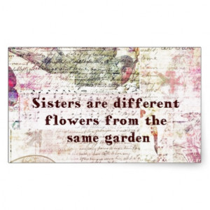 Inspirational Sister Quote Rectangular Stickers