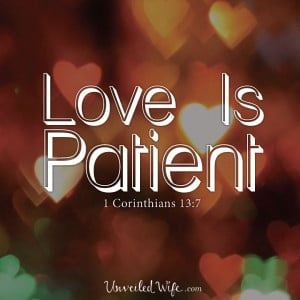 Christian Quotes About Love And Relationships love is patient - 1