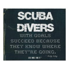 ... with Goals Succeed in Denim > Motivational poster with scuba #quote