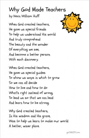 Free Printable - Why God Made Teachers Poem - Simple Teacher Gift Idea ...
