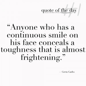 "... Toughness That Is Almost Frightening "" - Greta Garbo ~ Boxing Quotes"