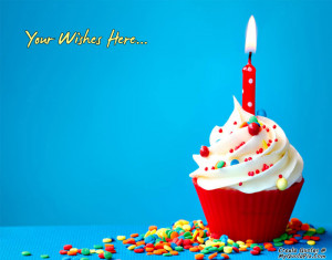 Quote Design Maker - Wish Birthday With Cupcake Quotes