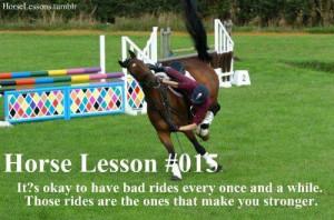 Horse lesson