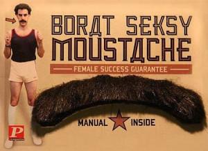 Funny Borat Seksy Moustache Advert - Female success guarantee - manual ...