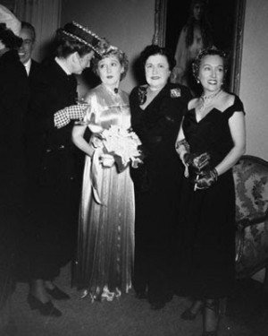 Pictured above are (L. to R.) Hedda Hopper, Mary Pickford,