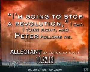 Teaser quote from Allegiant