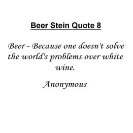 famous quote beer stein personalized an appropriate gift for all beer ...