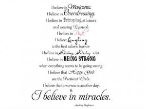 Believe in Manicures Audrey Hepburn Quotes