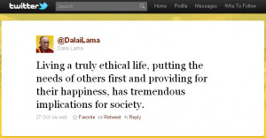 ... : Living a truly ethical life, putting the needs of others first