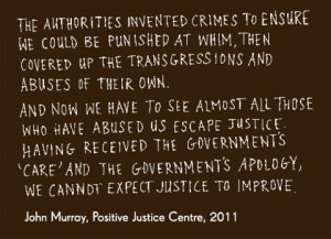 ... apology, we cannot expect justice to improve', attributed to 'John