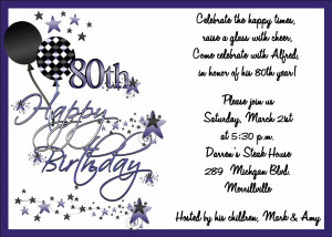 adult birthday invitations 80th birthday bash abi158