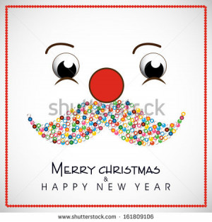 Happy New Year and Merry Christmas celebration concept with and funny ...