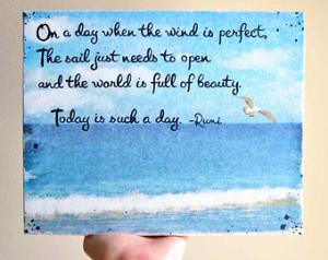 ... Sailing Art Beach Decor Nautical Decor - Inspirational Quotes Beach