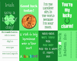 St. Patrick's Day Messages {Printable}