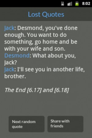 tv show lost quotes