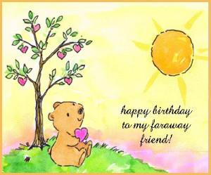 Happy Birthday to my faraway friend