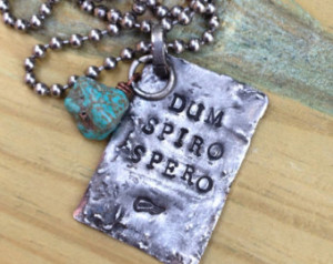 ... Spiro Spero Necklace, inspirational Latin quote jewelry, Cicero quotes