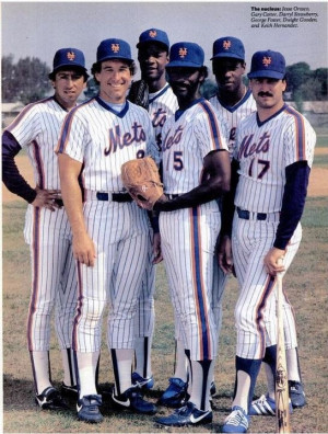 Darryl Strawberry, George Foster, Dwight Gooden, and Keith Hernandez ...