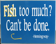 3166 Fish Too Much Fishing Plaque