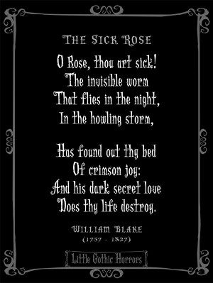 Dark Quotes, Gothic Poem, Gothic Quotes, Projects Once, William Blake ...
