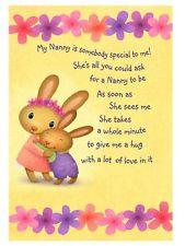 Personalised A5 Nan Nanny Grandma Birthday Card Cute Poem Auntie Gran ...