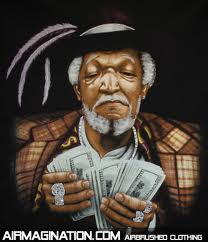 "... Fred Sanford on the TV show ""Sanford and Son"". Fred was a cranky"