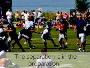 The separation is in the preparation.