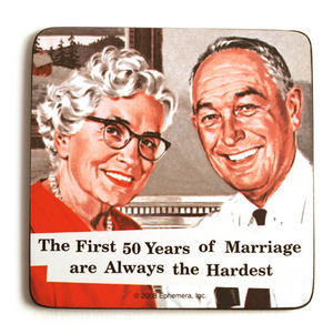 Cool coaster - The first 50 years of marriage - COASTERS - Pink Cat