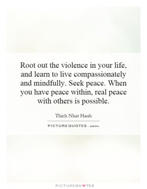 Peace Violence Quotes Quotes for Pinterest