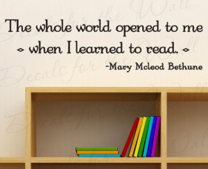 The Whole Word Opened to Me Mary McLeod Bethune Reading - Boy Girl ...