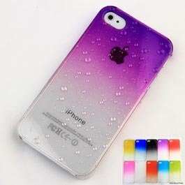 ... 4S 4G Colorful 3D Water Drop Dripping Ultra Thin Hard Back Case Cover