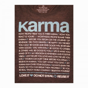 Karma Quotes Boxy Crop Tee