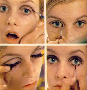 fashion vintage makeup 1960s 60s 1960's 60's twiggy 60s Fashion 1960s ...