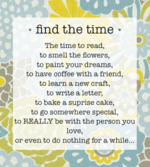 Find the Time...