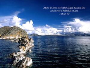 Love bible verse screensaver