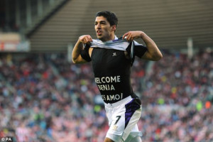 He's back: Suarez welcomes his newborn son after bagging his second ...