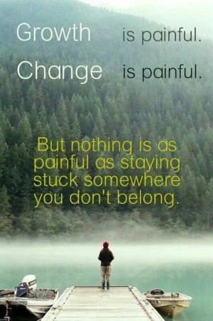 Growth and change necessary!!!