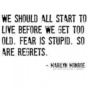 Marilyn Monroe Inspirational Quote Blackand White