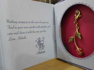 Kidada for Disney Beauty and the Beast rose charm