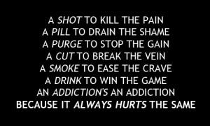 Love The Hardest Drug Sad Quotes