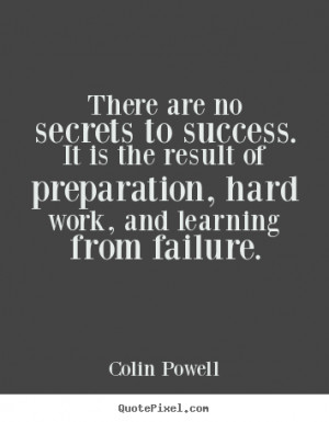 Colin Powell Success Quote Print On Canvas
