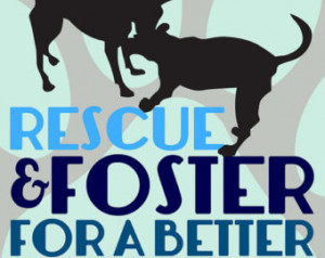 Rescue and Foster Dog Quote Wall De cor Choose Fine Art, Gallery ...