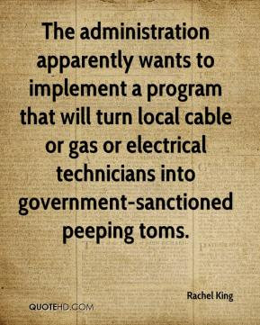 The administration apparently wants to implement a program that will ...