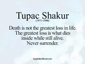 Loss Quotes – Tupac Shakur