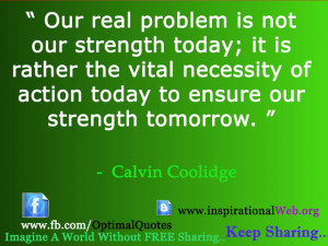 Great Thoughts by Calvin Coolidge
